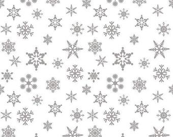 EXTRA20 20% OFF Sparkle Silver Snowflake On White