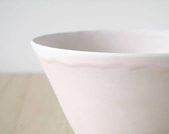 medium bowl, pink blush : SAMPLE SALE