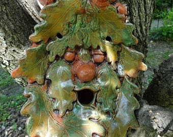 TerraCotta Oak Lady Birdhouse II