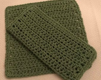 Cotton Sage Dishcloth/Washcloth set of 2