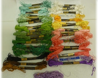 Embroidery Thread 44 Skeins Assorted Colors Sewing Floss Vintage
