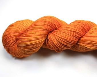 Happy Marigold--hand dyed sock yarn, BFL and nylon, (464yds/100gm)