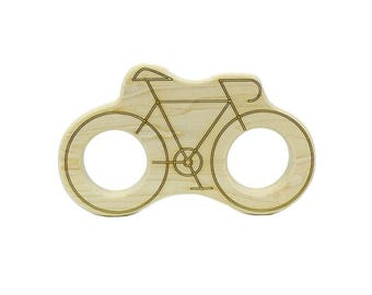 Bicycle Teether - Wooden Teether - Baby Teether - Teething Toys -  Teether - Baby Shower Gift - Wood Baby Toys - Bike Toy - TE57