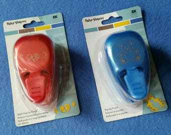 One Paper Shapers Pop-Up Punch by EZ Success, teddy bear punch or love stitch punch, new in package NIP, 3-D paper punch