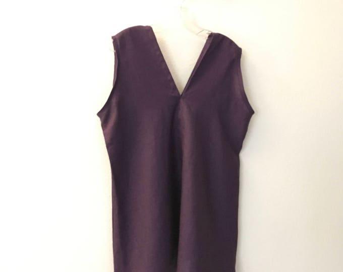 Cyber Week Sale eggplant purple linen sparrow top Size M ready to wear