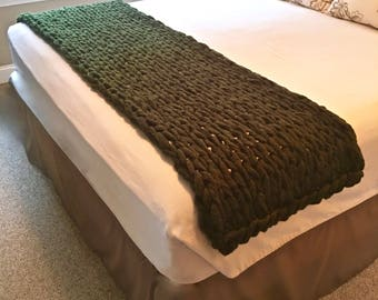 RESERVED FOR SHERRY:  Chunky Knit Throw - tan or beige color - throw in this pic is beige