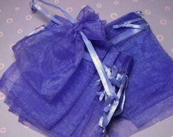 Summer Sale 12 Pack Purple Sheer Organza Drawstring Bags  Great For Halloween Time Gifts