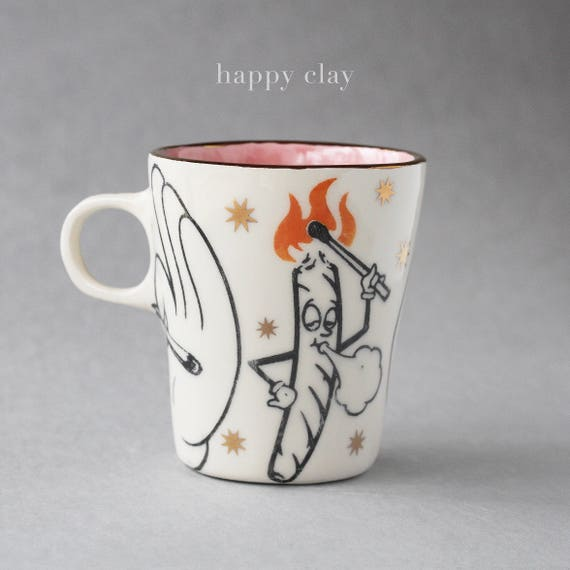 Spliffy handmade mug