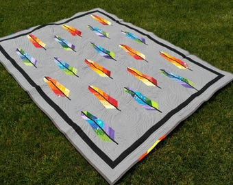 Rainbow Feather Quilt