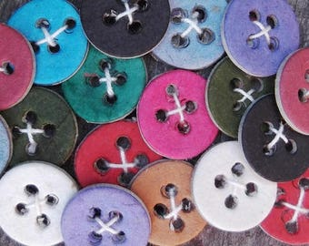 Assorted Paper Buttons - Package of 20