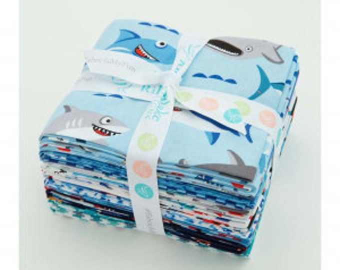Featured listing image: Sharktown by Shawn Wallace Fat Quarter Bundle (FQ-6350-15)