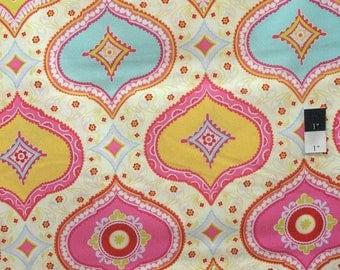 Dena Designs DF91 Kumari Garden Chandra Red Cotton Fabric By Yard