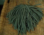 80 Hand Dyed Wool Rug Hooking Strips  Sage Green