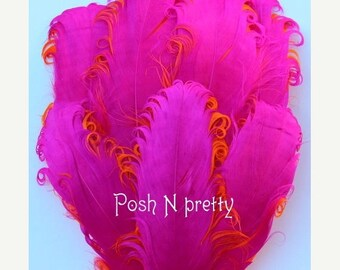 20% OFF EXP 06/30 2 pieces Premium 2 PLY HotPink/Orange Nagorie Feather pad