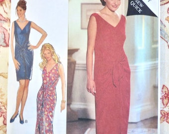Vintage 1990s Womens Sarong Wrap Dress - Style 2526