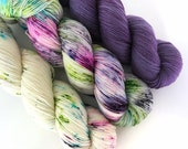 MERMAID KIT - Hand Dyed Yarn - Signature Merino Nylon Sock Yarn Fingering - Ready to Ship - Vivid Yarn Studio