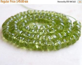 Deep Discount Sale Peridot Gemstone Rondelle Green Exceptional Faceted 5mm Full Strand 110 beads