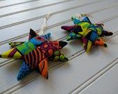 Folded Fabric Ornaments -...