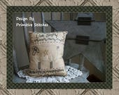 Live Simply-Primitive Stitchery E-PATTERN-INSTANT DOWNLOAD