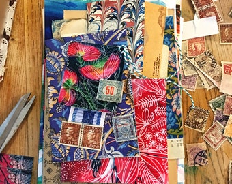 Mixed Paper Pack - surprise lucky dip ephemera scrap pack, collage, scrapbooking, card making, journaling, craft, assemblage, mixed media