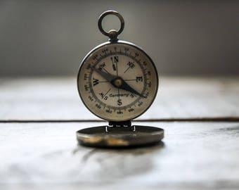 Vintage Compass, Compass, German Compass, Collectibles, Brass Compass, Pocket Compass, Antique Compass, Navigation,