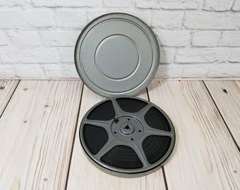 "Vintage 7"" 8mm Film Reel in Canister Home Movie"