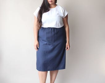 navy and white color block dress, size 18