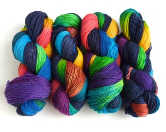 Storm's End, 75/25 Superwash Merino/Nylon Fingering Weight Sock Yarn, Three Waters Farm
