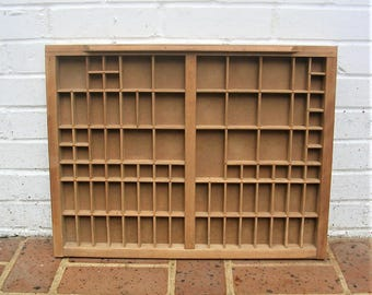 Antique Vintage Printers Wooden Tray Antique Vintage Printers Drawer Shadow Box Letterpress Tray 98 Sections