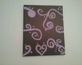 Lavender Swirls