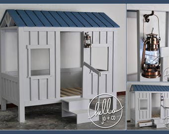 Twin Cabin Bed Playhouse Fort Bed