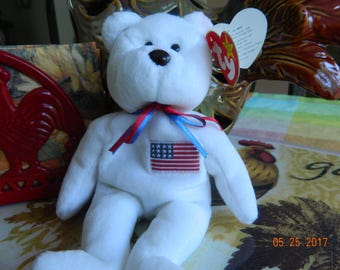"""Libearty Beanie Baby with """"Lefty"""" Swing tag Error Rare"""