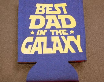Best Dad in the Galaxy - Drink Holder - Foam - Collapsible Drink Insulator