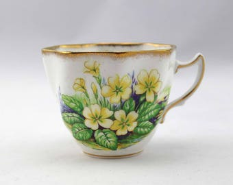 Rosina Tea Cup with Yellow Flowers - Pattern 5181 - Rosina-Queens Fine Bone China - Made in England - Vintage Tea Cup - Wildflowers