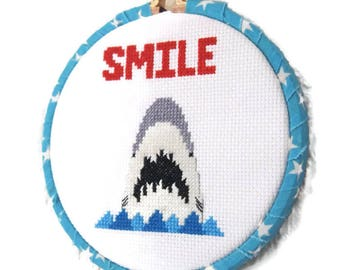 Bag Of Dicks Adult Cross Stitch Ornament Ready To Hang Gag