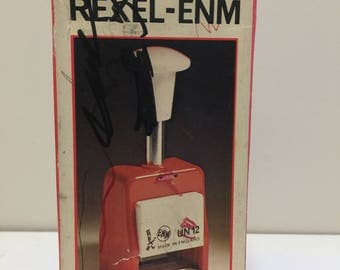 Vintage Rexel-ENM Numbering Machine with Box