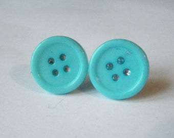 ♥♥♥♥ Bud earrings turquoise blue ♥
