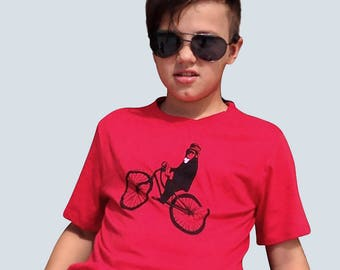 Kids Monkey TShirt, in Red