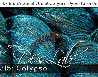 From the Lab - DtO 315: Calypso on Silk/Linen/Seacell/Bamboo Yarn Custom Dyed-to-Order