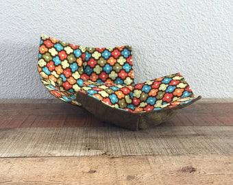 Green Bowl Pot Holder - Microwave Cozy - Flower Bowl Holder - Microwave Pot Holder - Fabric Bowl Holder - Table Trivet Set of 2