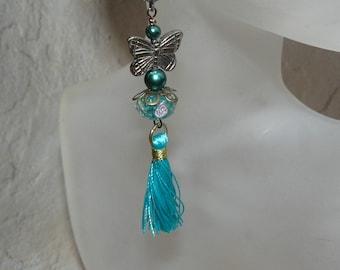 Tassel Earrings, Butterfly Earrings, Handmade Jewelry, Summer Earrings, Unique Handmade, Handmade Gifts, Kitschy Jewelry, Under 30, For Her