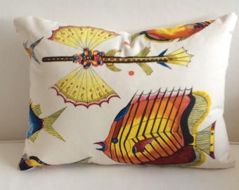 FISH pillow cover ready to ship  ooak