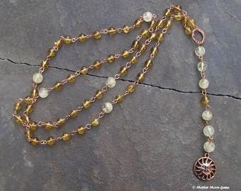 We All Come From The Sun God II- Citrine & Copper Spirit Rosary