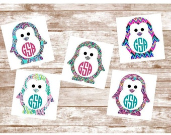 Yeti Decal, Yeti Tumbler Decal, Yeti Custom Decal, Penguin Decal, Yeti Decal For Women, Yeti Sticker