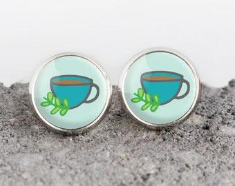 Teacup Illustrated Earrings | ATL-E-TEA