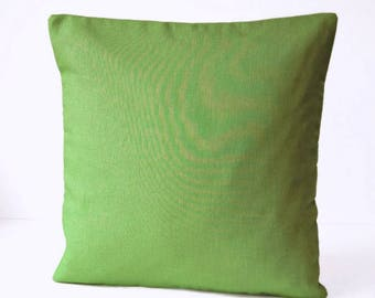 16 inch fern green cushion cover, solid moss green accent decorative pillow cover 40 cm
