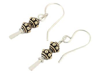 Vermeil Bead Dangle Earrings