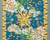 Art quilt - Sunny Seasons FINISHED QUILT - Hand applique Birds, Sun & Floral