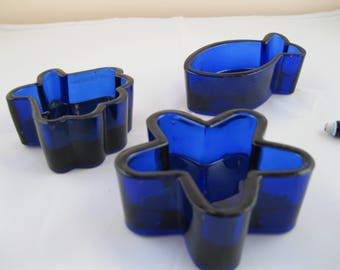 Candle Holders in Colbolt Blue