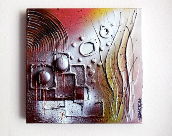 """Painting...""""Zen Garden""""...Modern Abstract...Textured Mixed Media Art...Gallery Wrapped Art Painting...Original Abstract Art..Ready To Hang"""